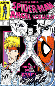 Stan Lee & Todd McFarlane Signed Spider-Man Angel Iceman Comic #229 BAS #E35331