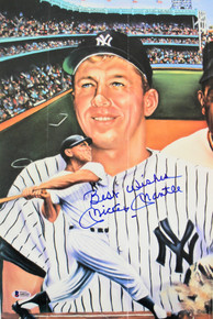 "Yankees Mickey Mantle ""Best Wishes"" Authentic Signed 11x17 Photo BAS #A05232"