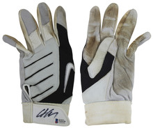 Yankees Chris Carter Authentic Signed Game Used Nike Batting Glove BAS #T43129
