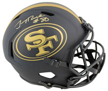 49ers Jerry Rice  Signed Eclipse Full Size Speed Rep Helmet BAS Witnessed