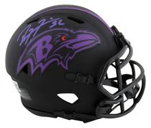 Ravens Ray Lewis Authentic Signed Eclipse Speed Mini Helmet BAS Witnessed