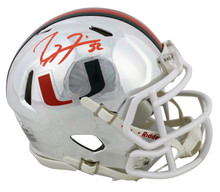 Miami Ray Lewis Authentic Signed Chrome Speed Mini Helmet BAS Witnessed