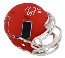 Miami Ray Lewis Authentic Signed Amp Speed Mini Helmet Autographed BAS Witnessed