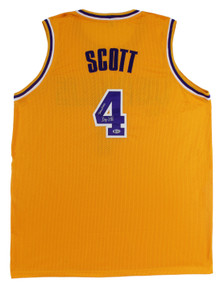 "Byron Scott ""Showtime"" Authentic Signed Yellow Pro Style Jersey BAS Witnessed"