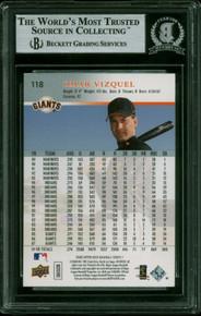 Giants Omar Vizquel Authentic Signed 2008 Upper Deck #118 Card BAS Slabbed