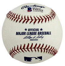 Dodgers Chad Billingsley Authentic Signed Oml Baseball Autographed BAS #T43322