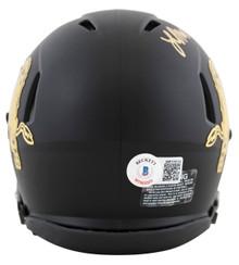 Colorado Laviska Shenault Jr. Signed Black Speed Mini Helmet w/ Chrome Decal BAS