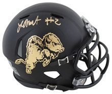 Colorado Laviska Shenault Jr. Signed Black Speed Mini Helmet w/ Chrome Decal BAS