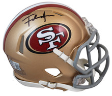 49ers Frank Gore Authentic Signed Speed Mini Helmet Autographed BAS Witnessed