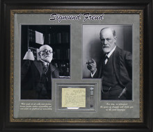 Sigmund Freud Authentic Signed & Framed 4.5x5.75 Letter Dated August 29 1933 BAS