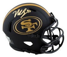 49ers Nick Bosa Authentic Signed Eclipse Speed Mini Helmet BAS Witnessed