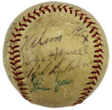 1956 White Sox (24) Fox, Aparcio, Doby Authentic Signed Baseball BAS #A39810