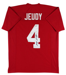 Alabama Jerry Jeudy Authentic Signed Maroon Pro Style Jersey Autographed BAS
