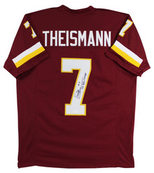 Joe Theismann SBXVII Champs Authentic Signed Maroon Pro Style Jersey JSA Witness