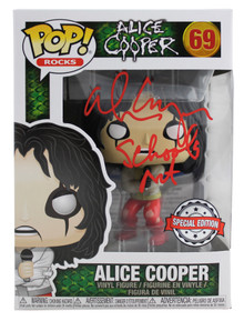 Alice Cooper Schools Out Signed #69 Funko Pop Vinyl Figure BAS Witness #WC91275