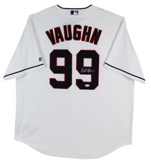 Charlie Sheen Major League Signed White Majestic Coolbase Jersey BAS Witnessed