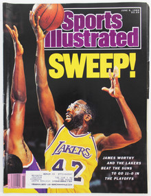 Lakers James Worthy June 5, 1989 Sports Illustrated Magazine Un-signed
