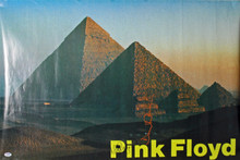 Nick Mason & David Gilmour Authentic Signed 24x36 Pink Floyd Poster PSA #Y06704