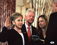 "Bill Clinton ""Go Hillary"" Authentic Signed 11X14 Photo Autographed BAS #A02044"