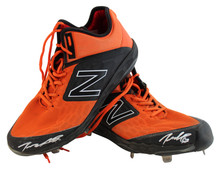 Giants Dereck Rodríguez Authentic Signed Game Used Orange New Balance Cleats BAS