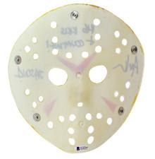 "Ari Lehman Friday The 13th ""146 Kills & Counting!"" Signed Yellow Jason Mask BAS"