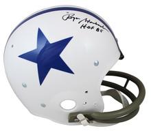 "Cowboys Roger Staubach ""HOF 85"" Signed Throwback TK Full Size Rep Helmet BAS Wit"