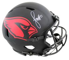 Cardinals Larry Fitzgerald Signed Eclipse Full Size Speed Proline Helmet BAS Wit