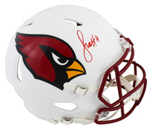 Cardinals Larry Fitzgerald Signed Flat White Full Size Speed Proline Helmet BAS