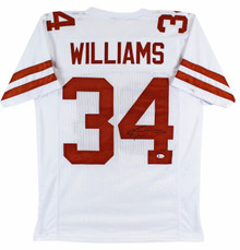 Ricky Williams Authentic Signed White Pro Style Jersey BAS Witnessed
