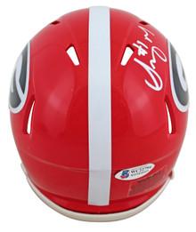 Georgia Sony Michel Authentic Signed Speed Mini Helmet Autographed BAS Witnessed
