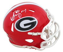 Georgia Sony Michel Authentic Signed Speed Mini Helmet Autographed BAS Witnessed