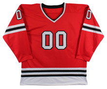 """Chevy Chase Christmas Vacation """"Clark"""" Signed Red Hockey Jersey BAS Wit #WD24011"""