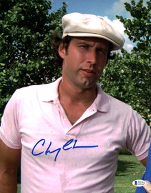 Chevy Chase Caddyshack Authentic Signed 11x14 Vertical Photo BAS Witnessed 22
