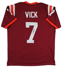 Virginia Tech Michael Vick Authentic Signed Maroon Pro Style Jersey JSA Witness