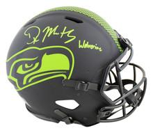 "Seahawks DK Metcalf ""Wolverine"" Signed Eclipse F/S Speed Proline Helmet BAS"