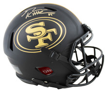 49ers George Kittle Signed Eclipse Full Size Speed Proline Helmet BAS Witnessed