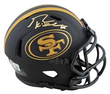 49ers George Kittle Authentic Signed Eclipse Speed Mini Helmet BAS Witnessed