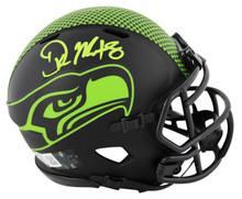 Seahawks DK Metcalf Authentic Signed Eclipse Speed Mini Helmet BAS Witnessed