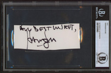 "Harrison Ford Star Wars ""All Best Wishes"" Signed 1.5x4.25 Cut Signature BAS Slab"