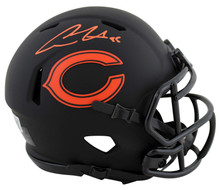 Bears Cole Kmet Authentic Signed Eclipse Speed Mini Helmet BAS Witnessed