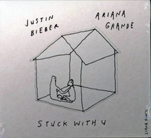 Justin Bieber & Ariana Grande Stuck With U Unopened Cd Un-signed