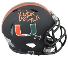 """Miami Warren Sapp """"The U"""" Signed 2017 Nights Alt Black Speed Mini Helmet BAS Wit"""