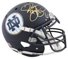 Notre Dame Jerome Bettis Signed Navy Schutt Full Size Proline Helmet BAS Witness