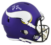 Vikings Justin Jefferson Authentic Signed Full Size Speed Rep Helmet BAS Witness