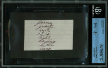 James Dean 2x3.25 Handwriting Sample from 5th Grade Notebook JSA Slabbed 8947585