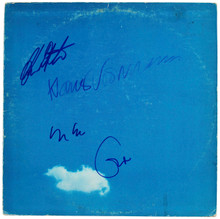 Plastic Ono (4) Clapton, Ono, Voormann & White Signed Album Cover W/ Vinyl BAS