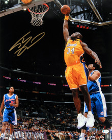Lakers Shaquille O'Neal Authentic Signed 16x20 Vs Clippers Photo Autographed BAS