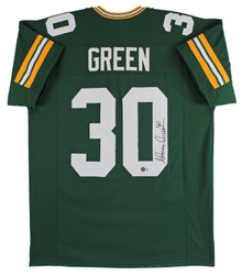 Ahman Green Authentic Signed Green Pro Style Jersey Autographed BAS Witnessed