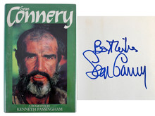 Sean Connery Authentic Signed  Biography 1st Edition Hard Cover book PSA #V03812