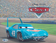 Richard Petty Cars Authentic Signed 8x10 Photo Autographed BAS #X71419